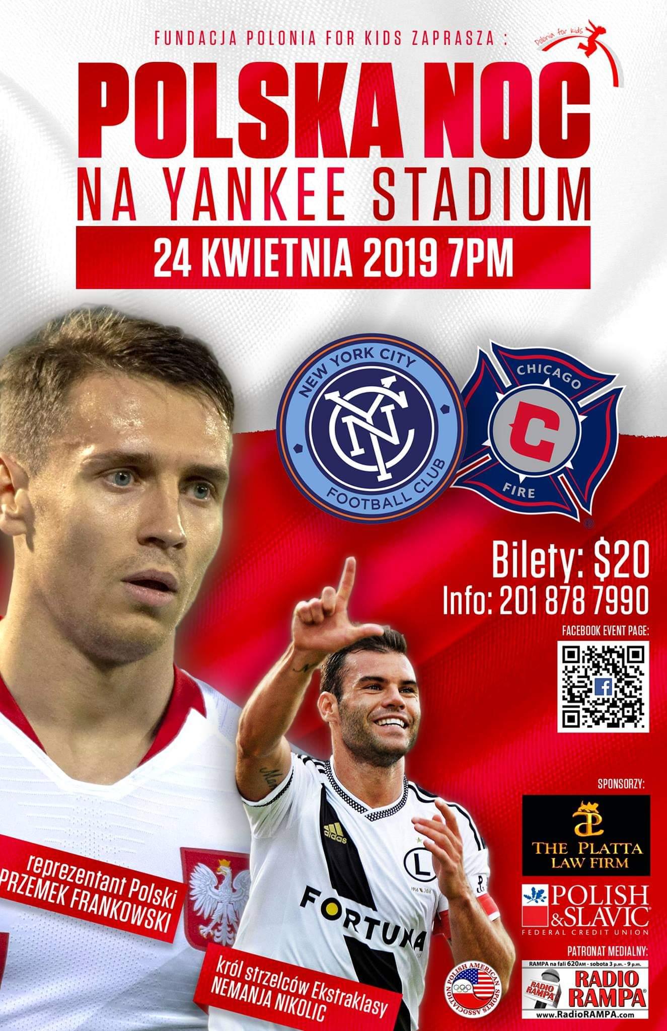 Ogłoszenie darmowe. Lokalizacja:  NY, NJ, CT, PA. IMPREZY - Sport i turystyka. Polska Noc na stadionie Yankee.