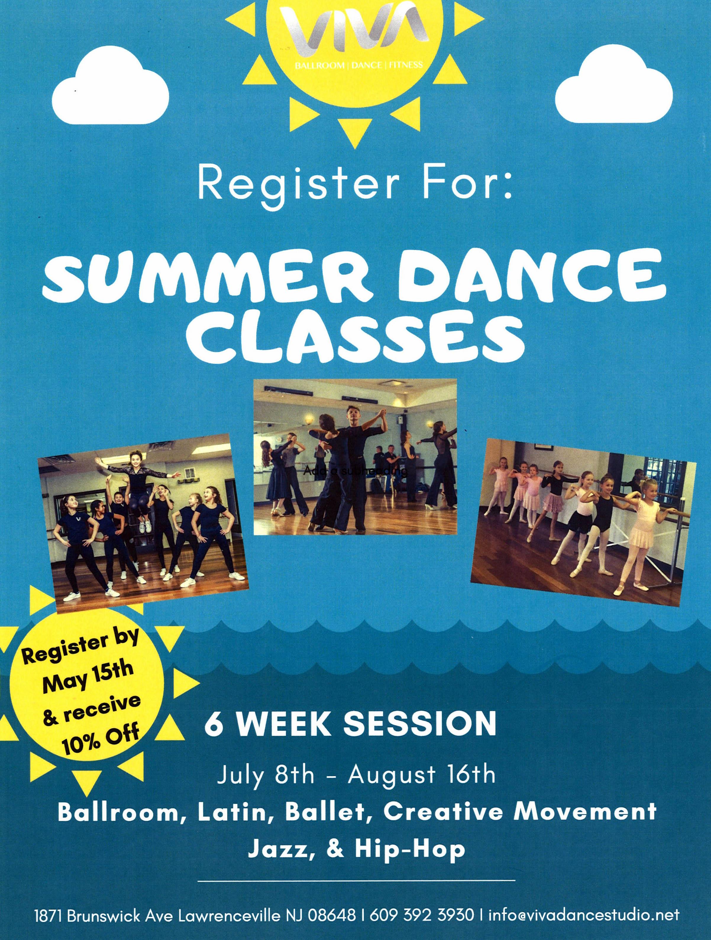 Ogłoszenie darmowe. Lokalizacja:  Lawrenceville, NJ. SERVICES - Teaching. SUMMER DANCE CLASSES !.
