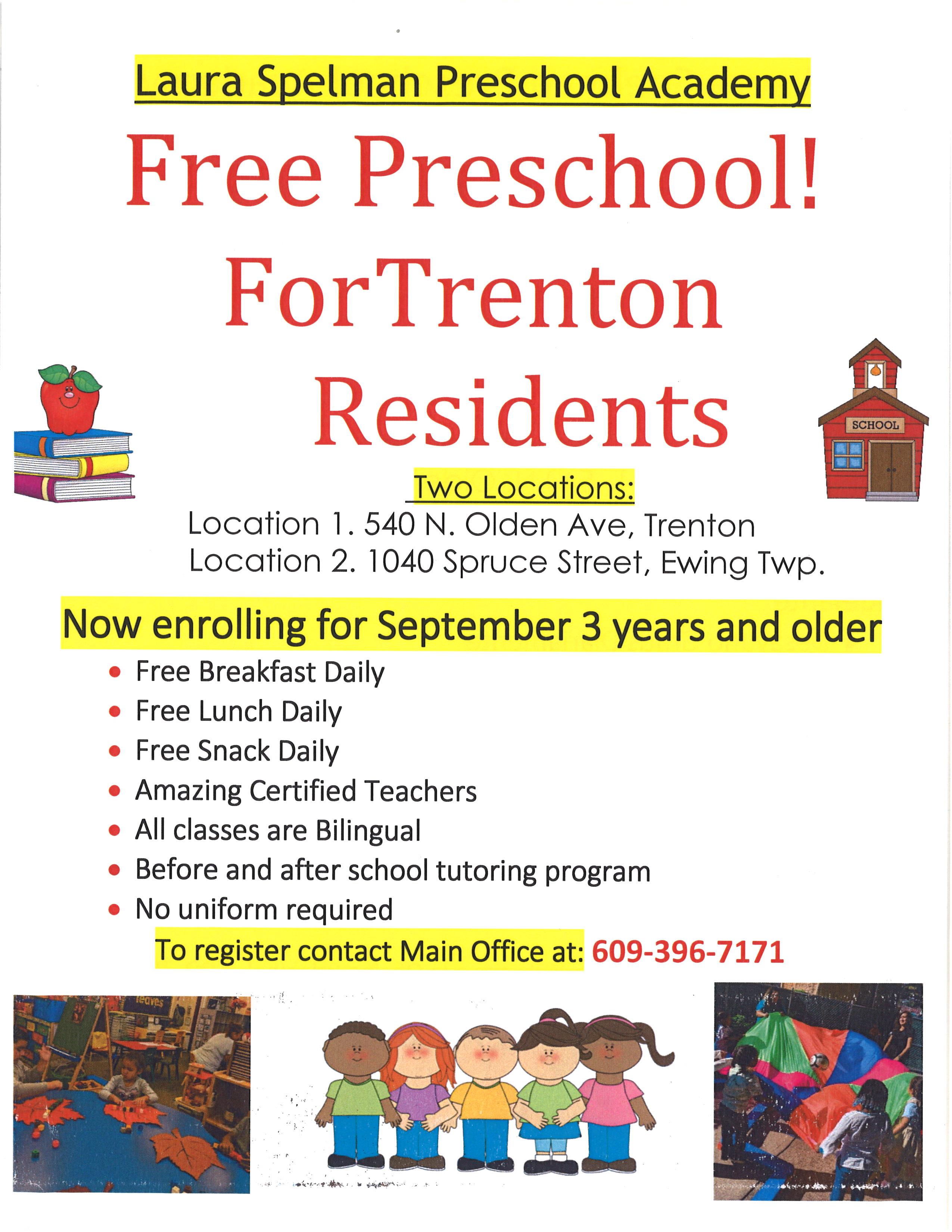 Ogłoszenie darmowe. Lokalizacja:  Trenton/Ewing NJ. USŁUGI - Pedagogiczne. DARMOWE PRZEDSZKOLE DLA DZIECI MIESZKAŃCÓW.