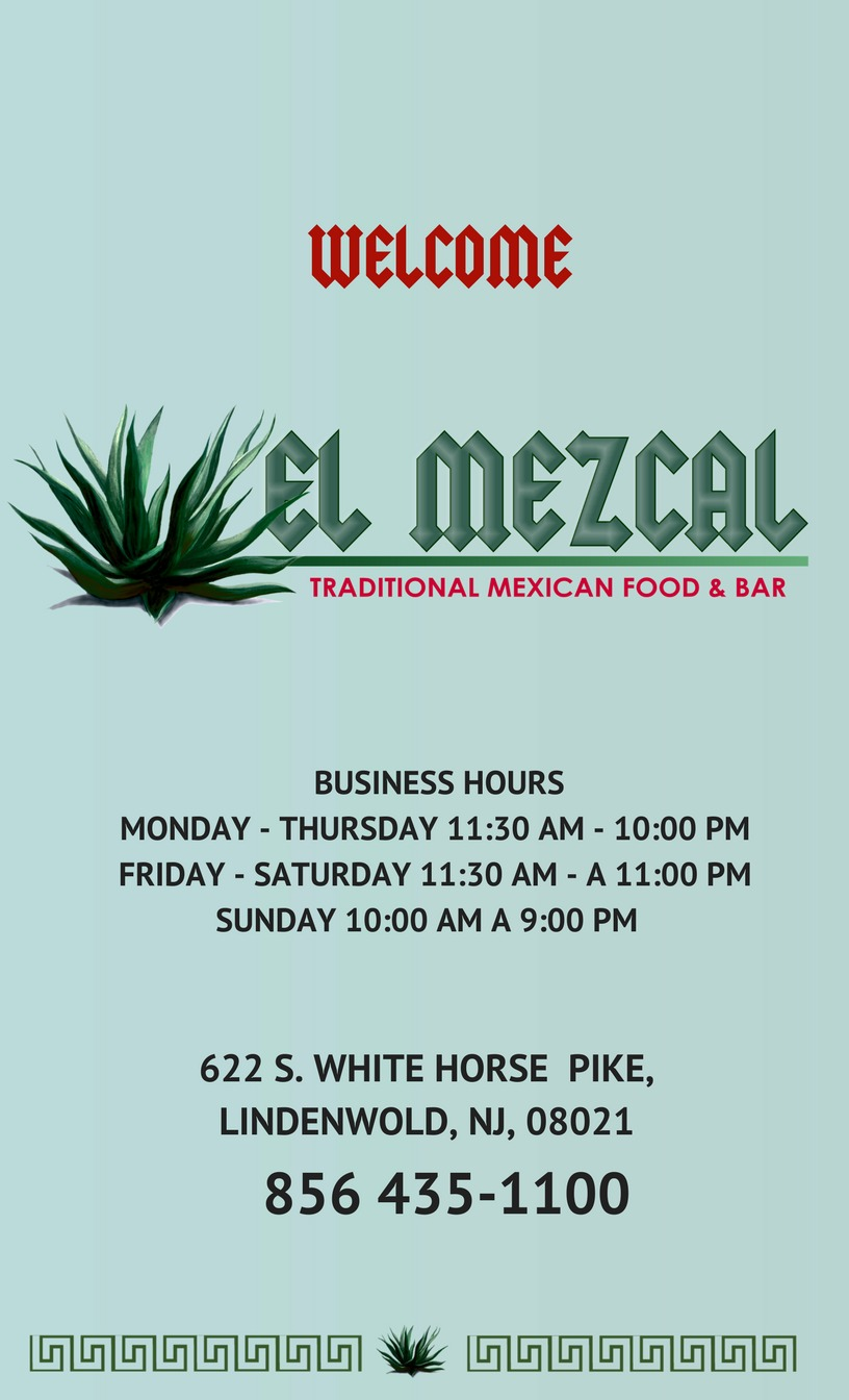 Ogłoszenie darmowe. Lokalizacja:  Lindenwold NJ. COMPRA Y VENTAS - Otros. El Mezcal Grill & Bar.