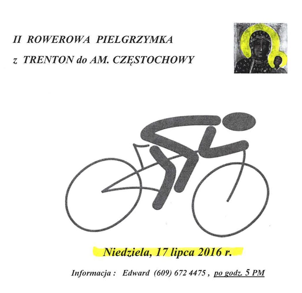 Ogłoszenie darmowe. Lokalizacja:  Trenton - Doylestown. IMPREZY - Religijne.   II rowerowa pielgrzymka.