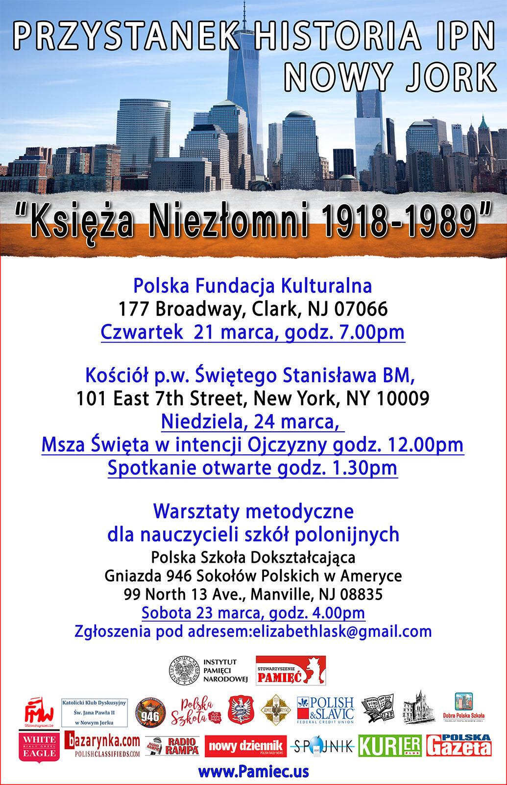 Ogłoszenie darmowe. Lokalizacja:  New Jersey - Nowy Jork. IMPREZY - Prelekcje. Zapraszamy na spotkania VI edycji.