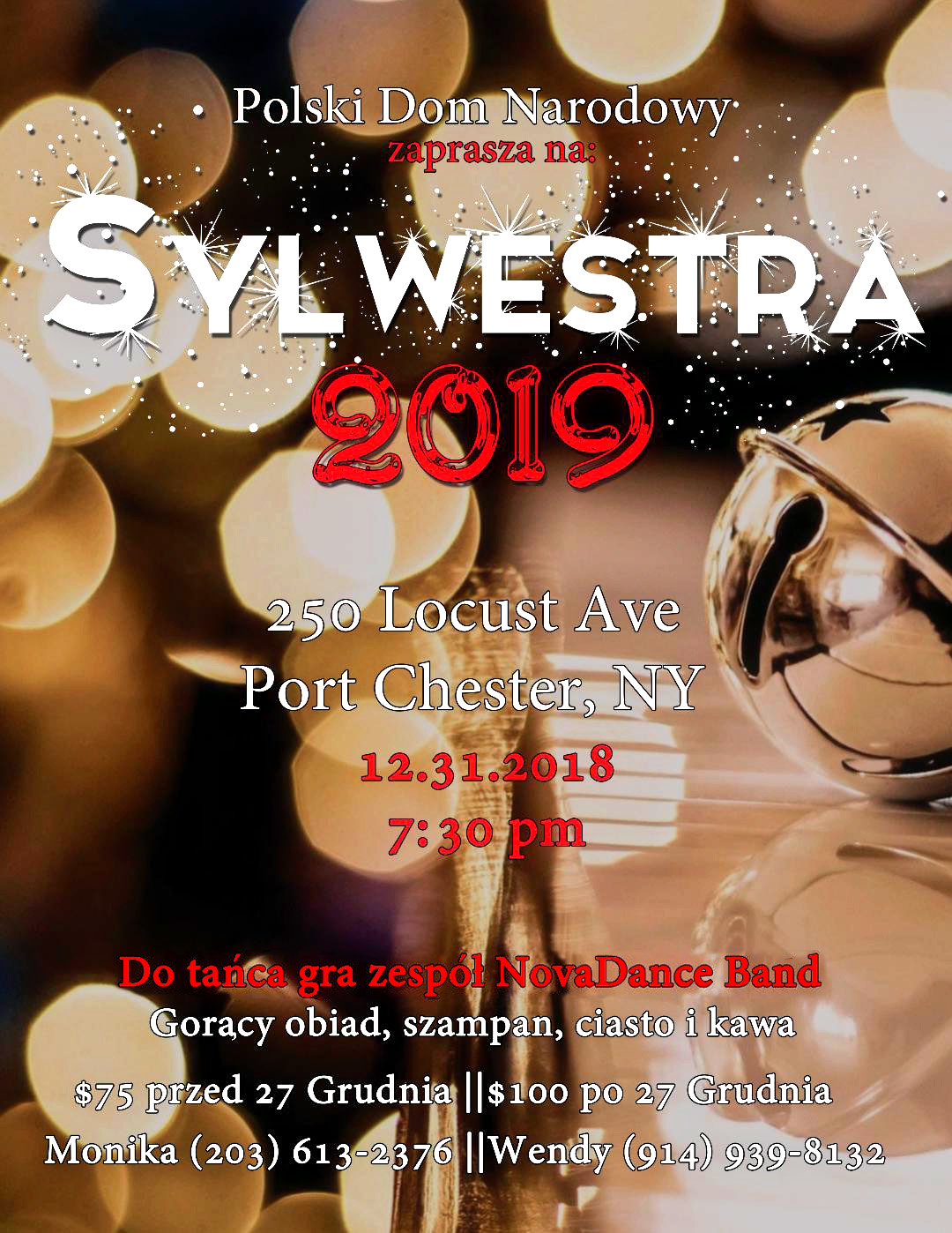 Ogłoszenie darmowe. Lokalizacja:  NJ NY PA CT. IMPREZY - Pikniki i zabawy taneczne. SYLWESTER w NY z zespolem.