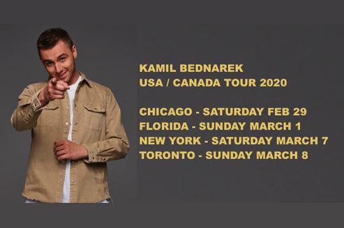 Ogłoszenie darmowe. Lokalizacja:  USA-KANADA. IMPREZY - Koncerty muzyczne.  KAMIL BEDNAREK  USA/CANADA.