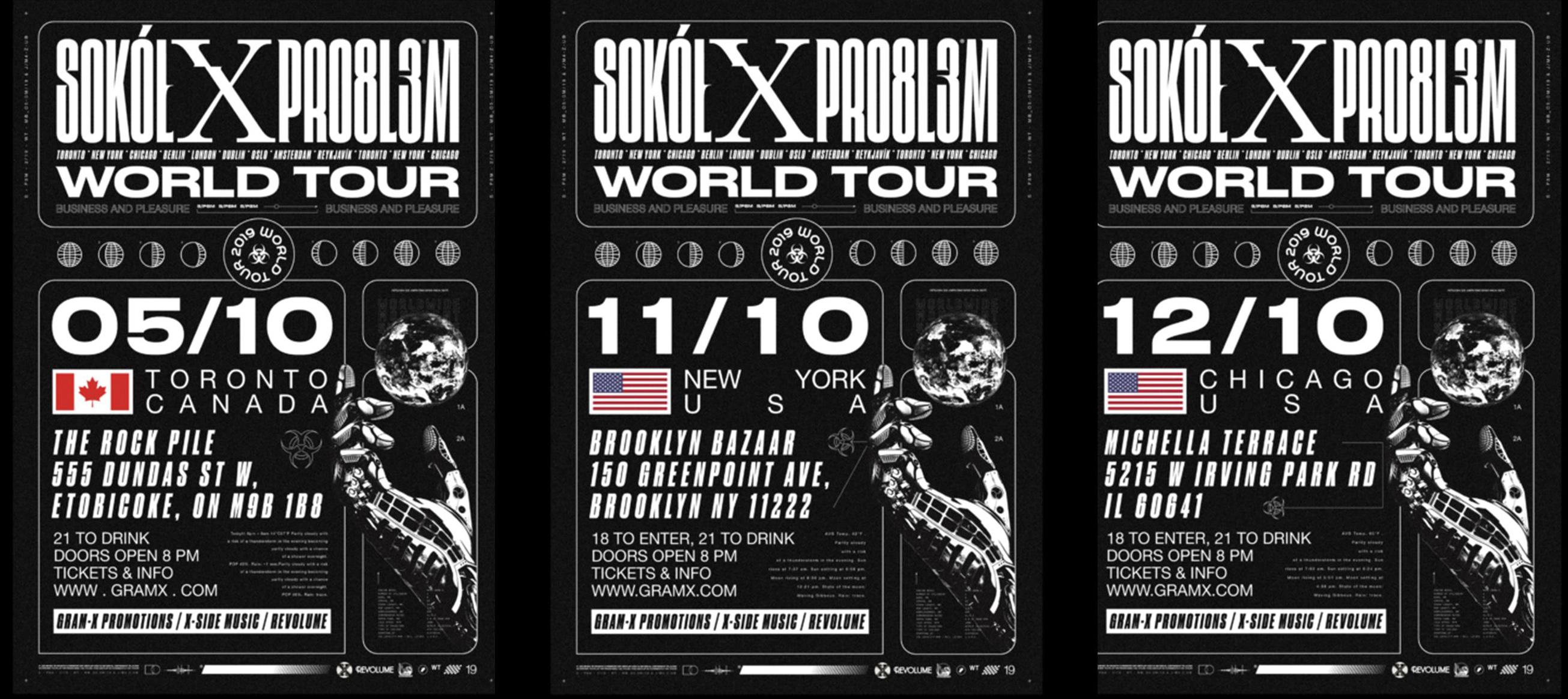 Ogłoszenie darmowe. Lokalizacja:  Toronto/New York/Chicago. IMPREZY - Koncerty muzyczne. World Tour | Sokół x.