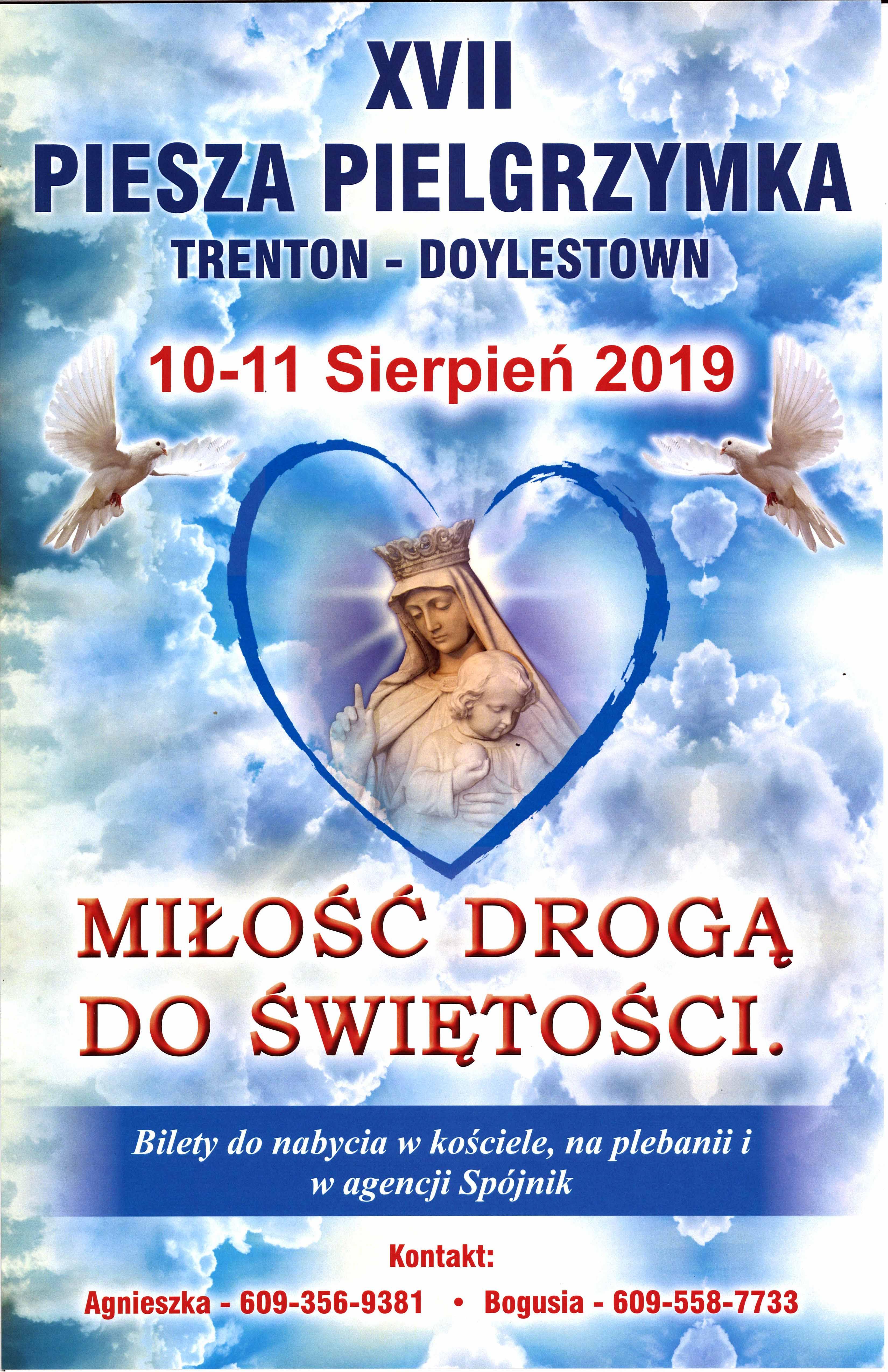 Ogłoszenie darmowe. Lokalizacja:  Trenton(NJ) - Doylestown(Pa). IMPREZY - Religijne.   MIŁOŚĆ DROGĄ DO.